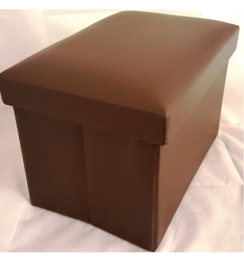 Ottoman Folding Storage Pouffe Home Box Stool Seat Home Bedroom Brown Kids  Room. Folding Storage Pouffe Home Box Stool Seat Home Bedroom Brown Kids